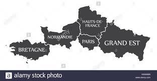 Map France by Bretagne Normandie Paris Hauts De France Grand Est Map