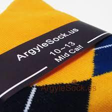 Best Man Socks Golden Yellow Navy Blue Royal Blue Argyle Socks For Groomsman
