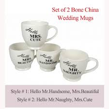wedding gift mugs coffee cups tea pair mugs bonbonniere gift hello mr mrs newly