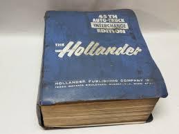 hollander 45th edition auto truck interchange manual u003d heavy