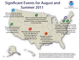Colorado Temperature Map by National Climate Report August 2011 State Of The Climate