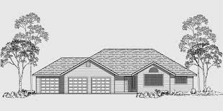 Live In Garage Plans by One Story House Plans 3 Car Garage House Plans 3 Bedroom House