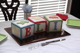 the cake box girls blocks baby shower cake