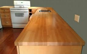 How To Install Butcher Block Countertops by Kitchen Inspiring L Shaped Butcher Block Countertop With Mosaic