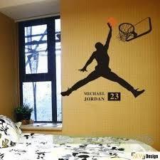 chambre basketball décalque de mur décoration murale sticker mural chambre décor