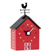 kookoo kids wall clock red barn the design gift shop