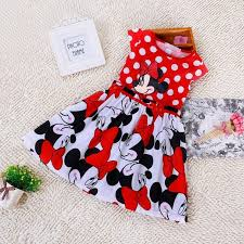 Mickey Mouse Toddler Costume 2017 Summer Clothing Baby Girls Dress Lovely Color Dot Mickey