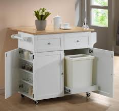 kitchen island with garbage bin wood prestige statesman door walnut kitchen island with trash can