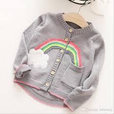 Sweater Toddler Sweater Clothing 2017 New Knitting Rainbow
