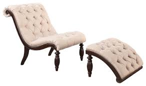 Accent Chairs And Ottomans Amazing Upholstered Tufted Accent Lounge Chair Ottoman Set With