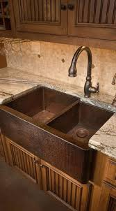 Sink Designs Kitchen Hammered Copper Farm Sink Design Ideas Pictures Remodel And