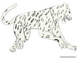 jumping jaguar kids coloring pages free printable kids coloring