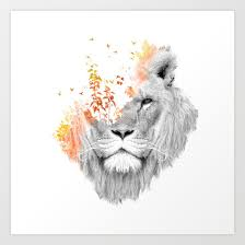 lion print if i roar the king lion art print by budikwan society6