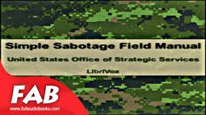 simple sabotage field manual full audiobook by united states