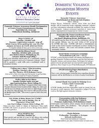 october domestic violence awareness month activities ccwrc