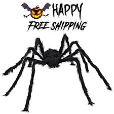 large giant halloween spider decor hairy scary 5ft haunted house