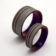 matching titanium wedding bands titanium wedding ring pairs 2 rings minter and richter designs