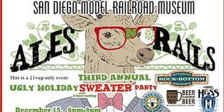 ales u0027n u0027 rails ugly christmas sweater party and beer tasting