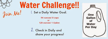 Challenge Of Water Healthy Happy And Pretty Gallon Of Water A Day Challenge