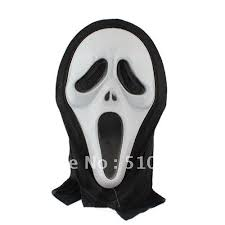 ghost mask scream photo album halloween ideas
