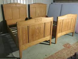Single Sleigh Bed Pair 19th Century French Pine Single Sleigh Beds Antiques Atlas