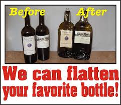 flattened wine bottle platter custom order we can flatten any of your favorite bottle as