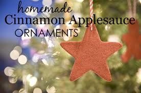 ornaments with applesauce and cinnamon