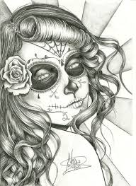 another great sketch idea for a sugar skull tattoo ink love