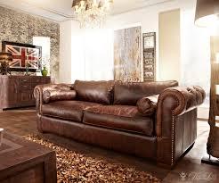 echtleder sofa sofa chesterfield 240x115cm dunkelbraun echtleder 3 sitzer