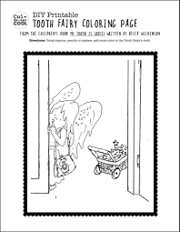 tooth fairy coloring page 3 diy printable worksheets inspired from the children u0027s book my
