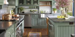 green kitchen cabinets with white island 31 green kitchen design ideas paint colors for green kitchens