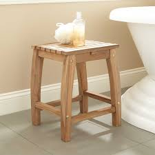 Wooden Shower Stool Shower Stool Signature Hardware