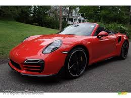 porsche 911 orange 2016 porsche 911 turbo s cabriolet in lava orange 178191
