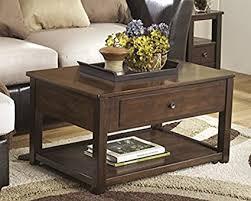 lift top cocktail table amazon com ashley furniture signature design marion lift top