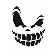 grinning skull pumpkin halloween smile face decal gallery