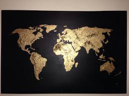 Canvas Map Of The World by Navy World Map And World Map On Canvas Roundtripticket Me