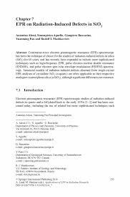 Resume Job Quartz by Epr On Radiation Induced Defects In Sio2 Springer
