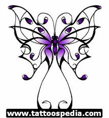 blue butterfly flowers breast cancer design all tattoos