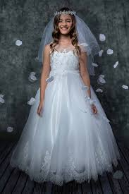 communion dresses tulle beaded floral lace length communion gown 4