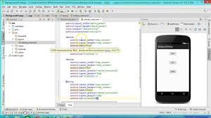 android center text android programming tutorial2 background change on button click