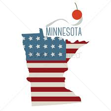 Minnesota State Map by Minnesota State Map With Spoon Bridge And Cherry Vector Image