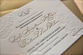 letterpress invitations black and gold letterpress wedding invitations blind emboss