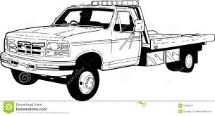 free coloring pages of flat bed tow trucks 4208 bestofcoloring com