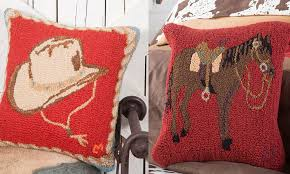 keep it western this fall with hooked pillows magazine