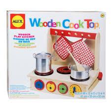 Childrens Toy Wooden Kitchen Alex Toys Wooden Cook Top Alexbrands Com