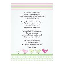 baby shower notes girl baby shower thank you notes pink birds card zazzle