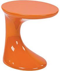 Orange Side Table Modway Teardrop Side Table In Orange Kitchen Dining