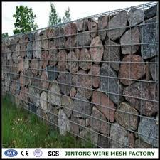 stone filled welded wire mesh fence panel stone filled welded