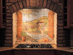 kitchen mural tiles installation photo of