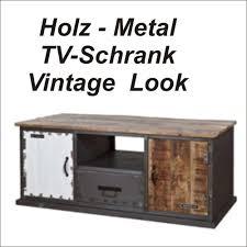 Wohnzimmerschrank Vintage Tv Sideboard Holz Ambiznes Com